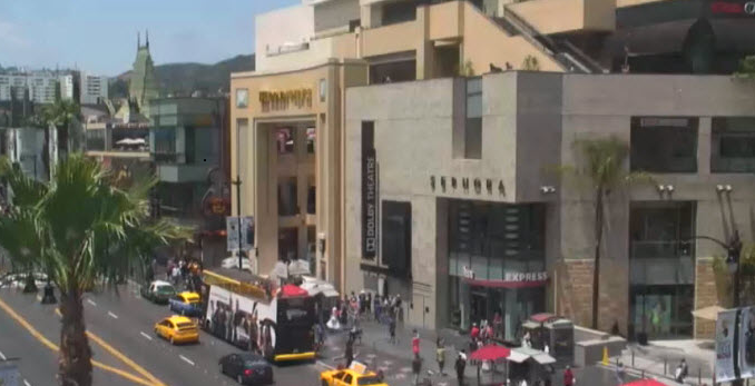 Hollywood Boulevard live webcam